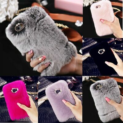 Faux Fur Cute Fluffy Shockproof Plush Warm Case Cover For iPhone XS MAX XR X 8 7