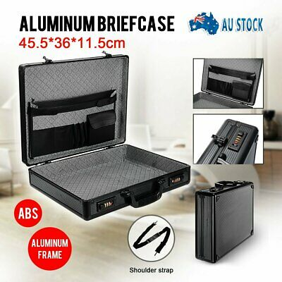 Men Computer/Brief Case Equipment Tools Box Briefcase Storage Bag Case Aluminium
