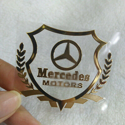 Auto Side Glass Sticker Fender Emblem Rear Decals Badge Fit For Mercedes-Benz