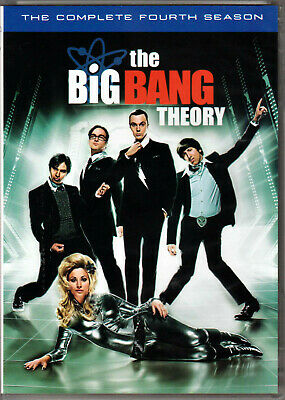 THE BIG BANG THEORY Complete FOURTH SEASON 4 on a DVD of TV SHOW Serie NERD Geek