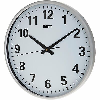 Unity 38Cm Large Dial Tejo Wall Clock Ideal For Office And Schools