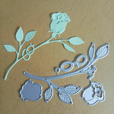 NICE Rose Flowers Metal Cutting Dies Stencil Dies Scrapbooking Alubm Photo Card