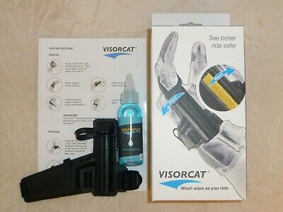 Visorcat Motorcycle Helmet Visor Wash Wipe Cleaning Kit For Shoei Helmets
