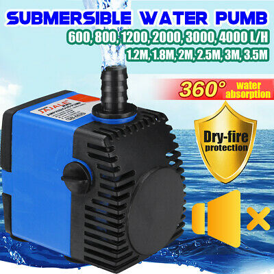 600-4000L/H Submersible Water Pump for Aquarium Fish Tank Pond Feature Fountain