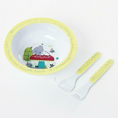 Me To You Tiny Tatty Teddy Bowl Spoon & Fork Set Free Shipping!