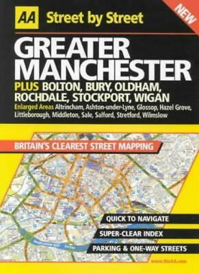 AA Street by Street Greater Manchester,- 9780749527006