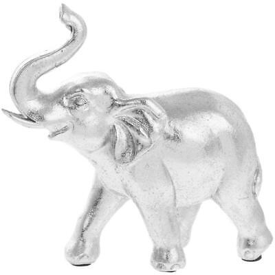 Silver Art Elephant Decorative Ornament - Gift Boxed By The Leonardo Collection