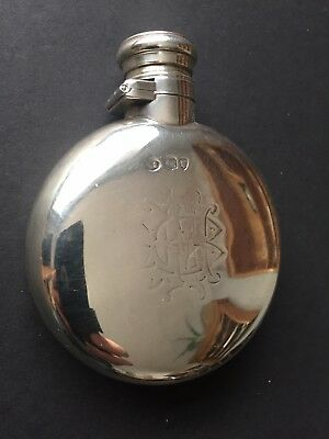 19th Century Victorian  Silver Flask -1874. William Summers London.