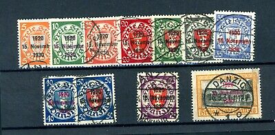 Danzig    SG 210/220  11 Stamps  used    (J085)