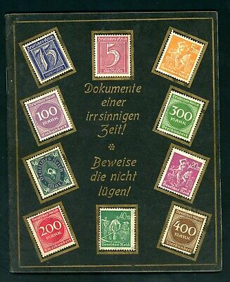German Stamps in Booklet 1920's Labels Colonies Lost in WWI ...  (J080)
