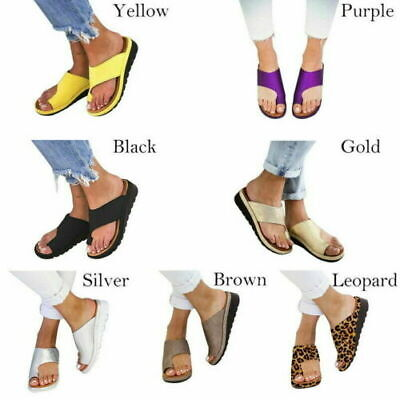 Womens Beach Sandals Comfy Platform Sandal Footed Shoes For Bunion Corrector New