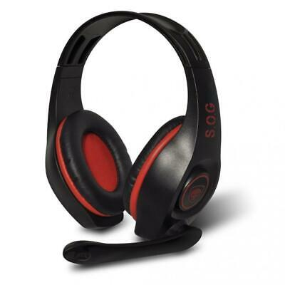 """SPIRIT OF GAMER """"PRO-H5"""" RED Casque micro pour PC / prise jack 3,5 mm /..."""