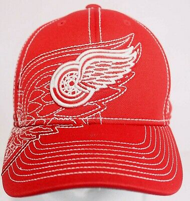 promo code f1af1 bfb4b Detroit Red Wings Hockey Baseball Cap Hat Center Ice Collection Reebok Size  S M