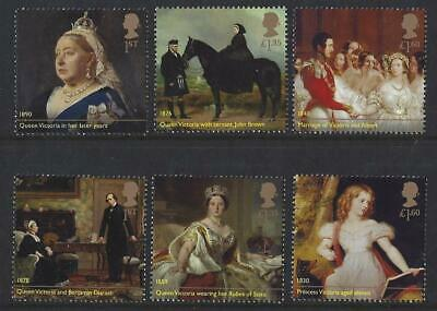 Great Britain 2019 Queen Victoria Set Of 6 Singles  Unmounted Mint, Mnh