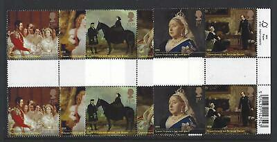 Great Britain 2019 Queen Victoria Barcoded Gutters  Unmounted Mint, Mnh