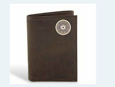 Shotgun Shell - Leather Crazy Horse Brown Trifold Wallet