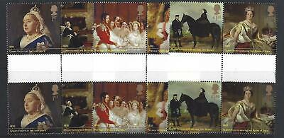 Great Britain 2019 Queen Victoria Gutter Pairs  Unmounted Mint, Mnh