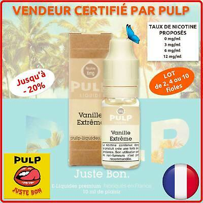 Liquide Cigarette Electronique VANILLE EXTRÊME Pulp e-Juice Gourmand Lot 2x10ml
