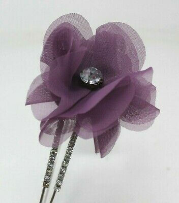 Purple Diamonte Head Alice Band On A Satin Band For Festival Wedding Races Prom