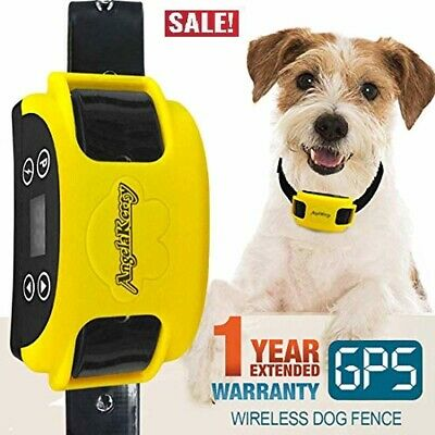 Containment System Transmitter Wireless Dog Fence Rechargeable with GPS Collar