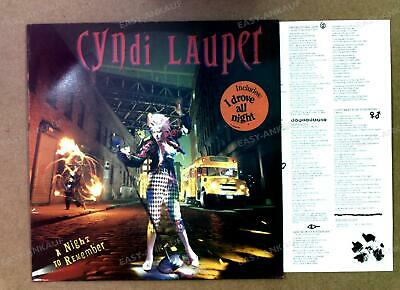 Cyndi Lauper - A Night To Remember Europe LP 1989 + Innerbag '