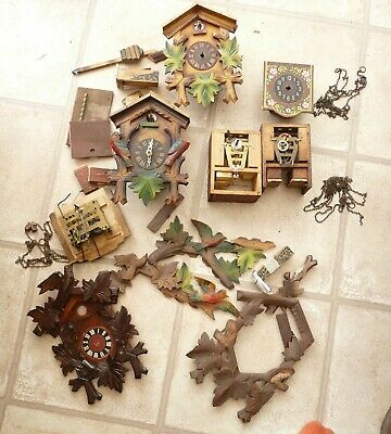 JOB LOT OF CUCKOO CLOCK BITS FOR SPARES or REPAIRS