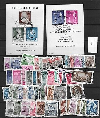 1955 USED  DDR, east germany, year collection, excluding block 13