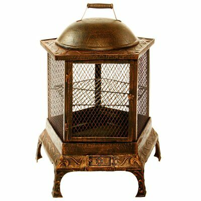 Oakland Living Pentagon 24 inch. Fire Pagoda with Grill