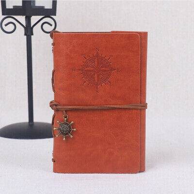 Classical Retro Spiral Ring Binder Notebook Diary Journal Leather Notepad D5K1