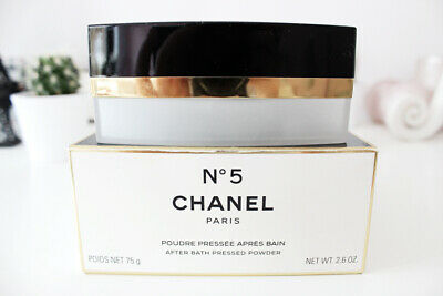 Rare Gift Wrapped CHANEL No5 After Bath Pressed Powder 75g Huge Mint Sealed Box