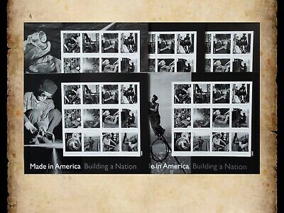 US Scott 4801 Complete Set of 5 Made in America Sheets of 12 Forever Stamps MNH