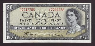 1954 Canada $20 devils face banknote Coyne Towers A/E 7747758 nice VF25 EPQ