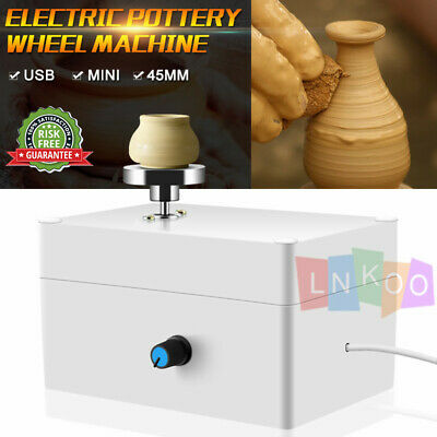 Mini Electric Pottery Wheel Ceramic Work Clay Art Craft Production Machine