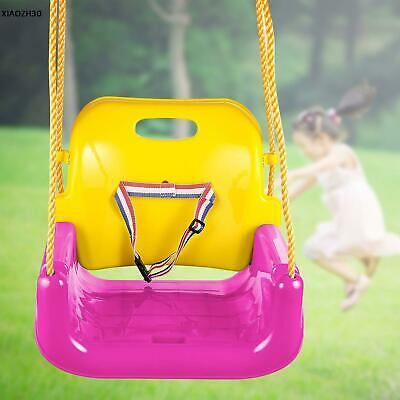 3 In 1 Full Bucket Swing Belt Seat Chain Kids Toddler Playground Outdoor Play