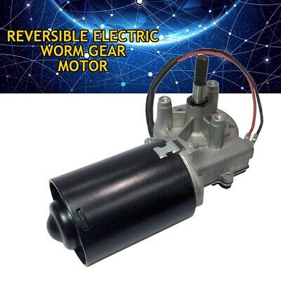 12V*30W/50RPM DC Worm Gear Motor High Torque Speed Reducing Electric Reversible