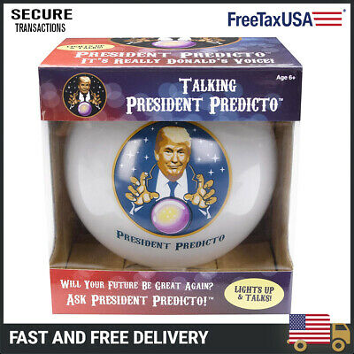 President Predicto - Donald Trump Fortune Teller Ball (Magic 8 Ball Funny Gift)