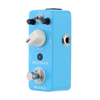 Mooer Sky Verb Micro Mini Reverb Effect Pedal for Electric Guitar True S0X8