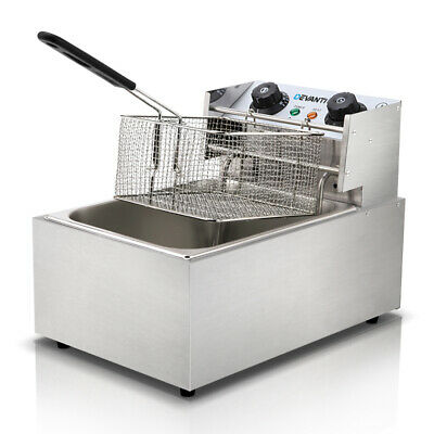 5-Star Chef Commercial Electric Deep Fryer Basket Chip Cooker Stainless Steel