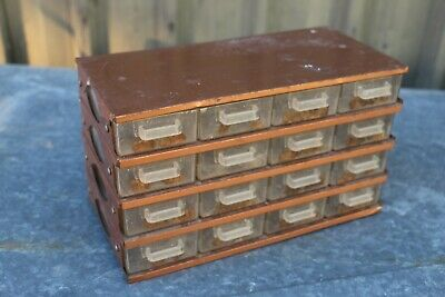 Vintage Industrial Metal with Plastic Drawers Screw/Nail etc Workshop Storage