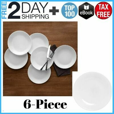 NEW Corelle Winter Frost Lunch Plates White 6 Count 8-1/2-Inch FREE SHIPPING