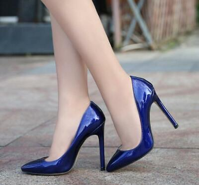 Sexy Women's High Heels 12cm Patent Leather Pointy Toe Stiletto Shoes New Ths01