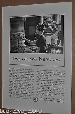 1933 Bell advert., Switchboard operator, American Telephone & Telegraph, AT & T
