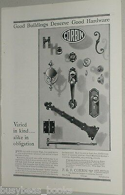 1929 P. & F. Corbin Co. advertisement, door hardware