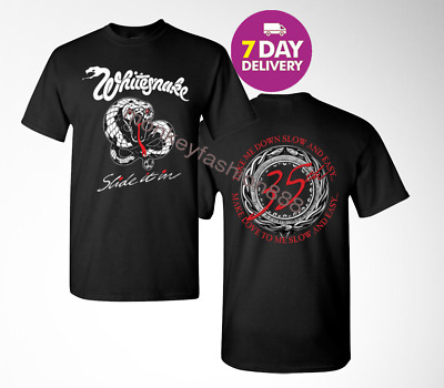 WhiteSnake SLIDE IT IN BLACK T SHIRT.SIZE S-3XL.