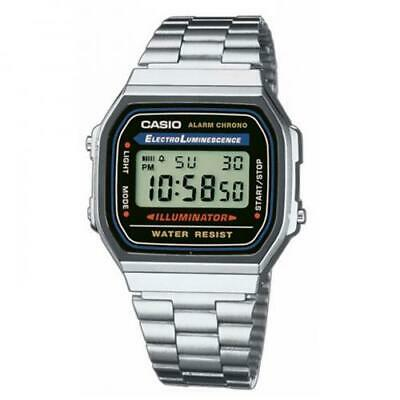 Casio Orologio Watch Vintage Collection New Acciaio A168WA-1ADF Steel Digitale