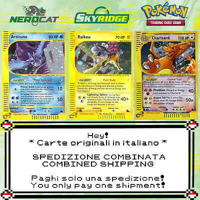 🍀Carte Pokémon RARE SET SKYRIDGE lotto Pokemon Spedizione combinata🍀