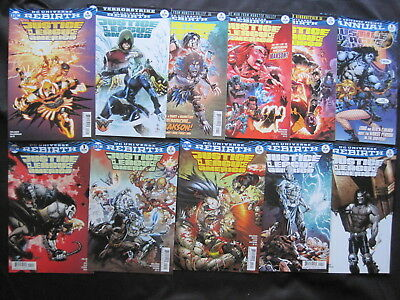 JUSTICE LEAGUE of AMERICA : issues 1,2,3,4,5,6,7,8,9,10, Ann 1. DC REBIRTH, 2016