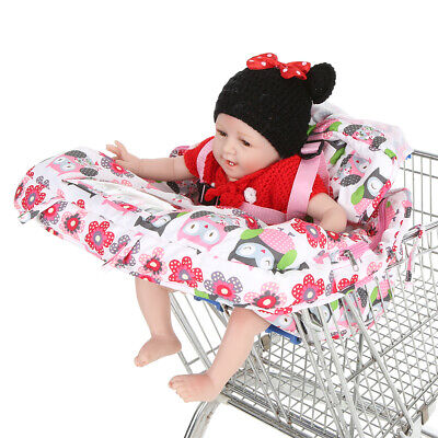 Compact Portable 2-in-1 Supermarket Shopping Cart Cover Mat Polyester High V6R3