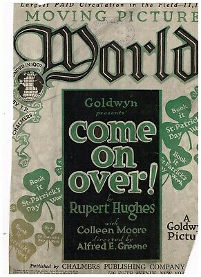 """RARE March 11, 1922 Moving Picture World """"Come on Over!' cover"""
