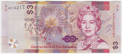 Bahamas NEW - 3 Dollars 2019 - UNC
